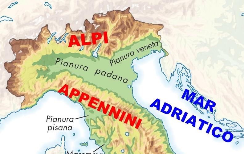 Cartina Dellitalia Alpi E Appennini.Geografia Maestra Maddalena